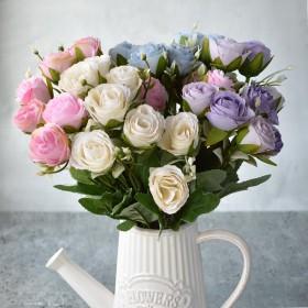 Букет роз Селена розовый 30 см