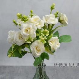 Букет роз Николь айвори 25 см