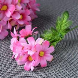 Ромашка одинарная розовая  7 гол. 25 см