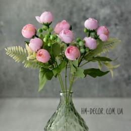 Букет ранункулюсов Паула розовый 30 см