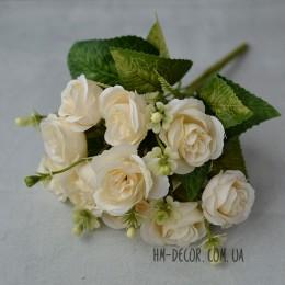 Букет роз Клер кремовый 30 см