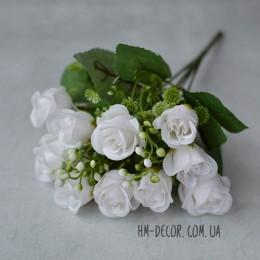 Букет роз Моника белый 30 см
