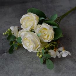 Букет роз Версилия айвори 35см