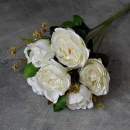 Букет роз Валери белый 35 см