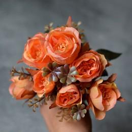 Букет роз Барбара абрикосовый 30 см