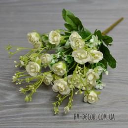Букет роз Доминика белый 5 веток 25 см