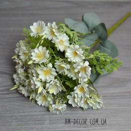 Букет мелких белых цветочков 10 веток 45 см
