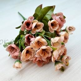Букет сакуры кремово-розовый 25 см
