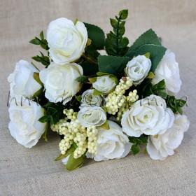Букет роз Софи белый 25 см
