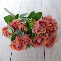 Букет роз Глория пепельно-розовый