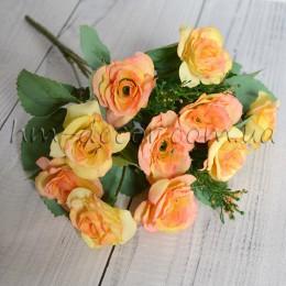 Букет роз Николь желтый 25 см