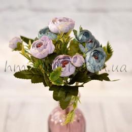 Букет ранункулюсов Есения лилово-синий 30 см