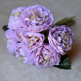 Букет камелий Нежность светло-фиолетовый 25 см