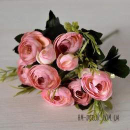 Букет ранункулюсов Амелия розовая пудра 35 см