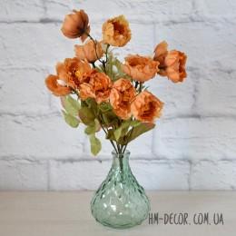 Букет садовых мини пионов коричневый 35 см