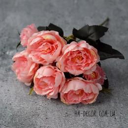 Букет пионов Милан розово-персиковый 30 см