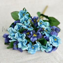Букет годеции сине-голубой 35 см
