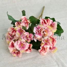 Букет годеции розово-персиковый 35 см