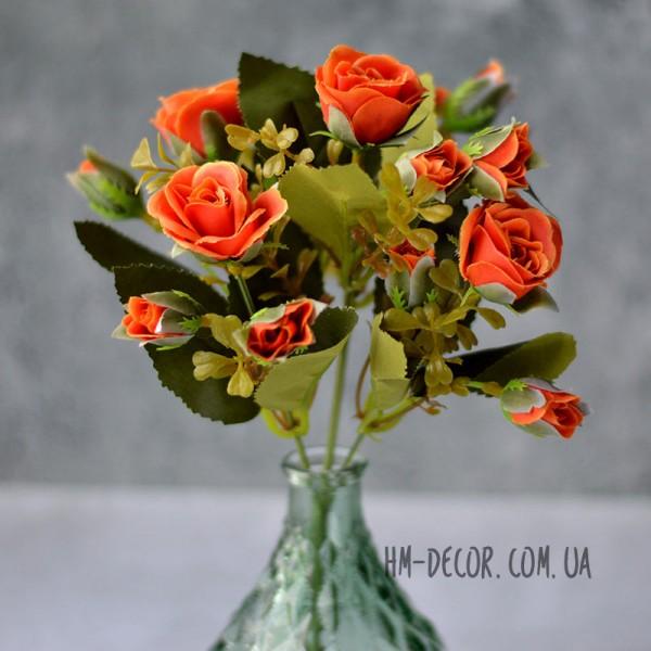 Букет роз Шарлотта оранжевый 25 см