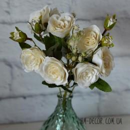 Букет роз Прованс молочный 30 см