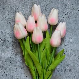 Тюльпан латексный кремово-розовый 30 см 1 шт. (уценка)