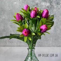 Букет тюльпанов мини сиреневый 7 шт. 28 см