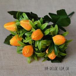 Букет тюльпанов мини желтый 7 шт. 28 см
