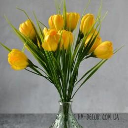 Крокусы желтые букет 25 см 11 шт.