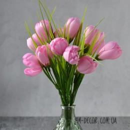 Крокусы нежно-розовые букет 25 см 11 шт.
