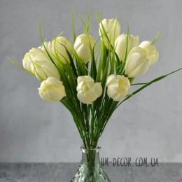 Крокусы белые букет 25 см 11 шт.