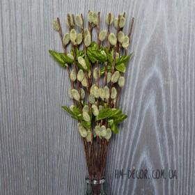 Веточка ивы весенняя серо-зеленая 35 см 1 шт.