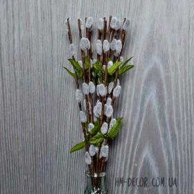 Веточка ивы весенняя серая 35 см 1 шт.