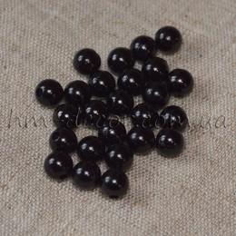 Бусины пластиковые черные 0,8 cм 50 шт.
