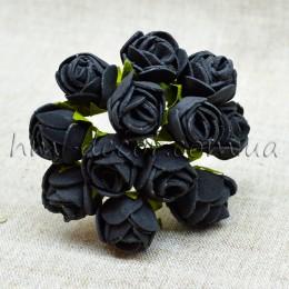 Роза латексная черная 12 шт. 2 см