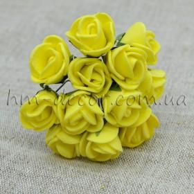 Роза латексная желтая 12 шт.
