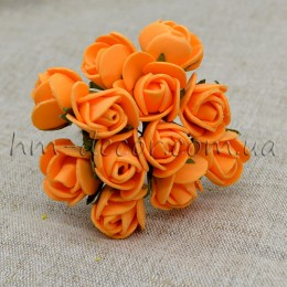 Роза латексная оранжевая 12 шт.