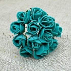 Роза латексная  мятная 12 шт. 2 см