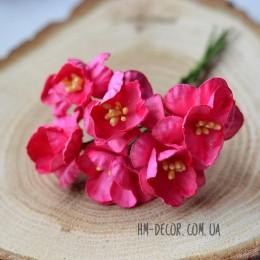 Сакура бумажная розовая 2,5 см 6 шт.