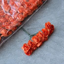 Розочка бумажная абрикосовая 12 шт. 2 см