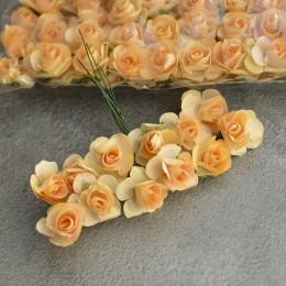Розочка бумажная светло-абрикосовая 12 шт.