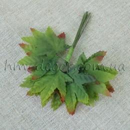 Лист клена на проволоке 4 см 12 шт.