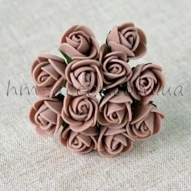 Роза латексная коричневая 12 шт. 1,5 см