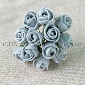 Роза латексная серая 12 шт. 2 см