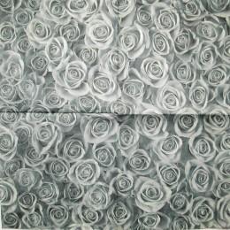 Салфетка для декупажа Серые розы 33х33 см