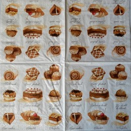 Салфетка для декупажа Шоколадные конфеты 33х33 см
