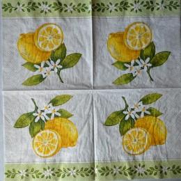 Салфетка для декупажа Лимон 33х33 см