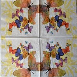 Салфетка для декупажа Бабочки 33х33 см