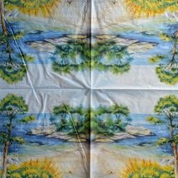 Салфетка для декупажа Зеленый остров 33х33 см