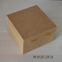 Заготовка для декупажа шкатулка квадрат 14*14*9 см