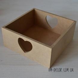 Заготовка короб для сладостей квадрат 15*15*6,5 см